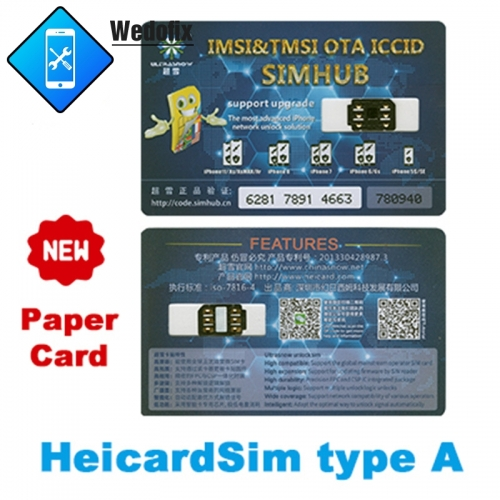 Heicard Carrier Unlock Chip Rsim Chips for iP 6~Xs Xr XSmax iPhone 11 11pro 11promax