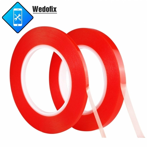 PET Red Tape Double Sided Adhesive Tape 2mm/5mm x 25M LCD Screen Repair Tape