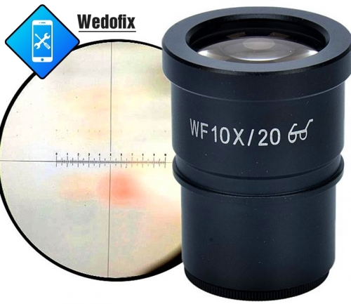 10X20 Super Widefield Microscope Eyepiece with Reticle (30mm)