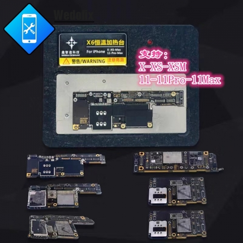 X6 6 in 1 Phone Motherboard Preheating Station Phone Logic Board Preheat Tool for iPhone X Xs Xsmax 11 11pro 11promax