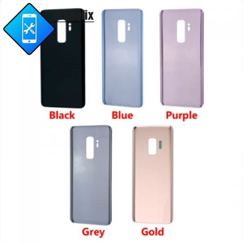 OEM Samsung Galaxy S9 Back Cover Glass with Logo + Sticker S9 Plus Back Battery Door