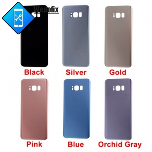 OEM Samsung S8 Back Cover Glass with Logo  + Sticker S8 Plus Back Battery Door