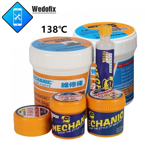 Mechanic 138℃ 217℃ Lead Free Solder Paste Strong Conductive Solder Flux