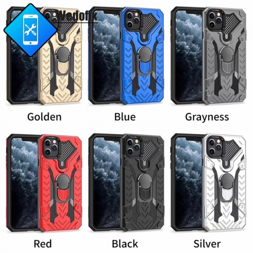 Iron Knight 2 in 1 Phone Protector with Holder Mobile Phone Case for iPhone 12 11 Xsmax XR Xs 6 7 8