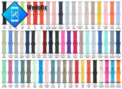OEM Apple Watch Straps Colorful iWatch Bands Silicone Apple Watch Strap for iWatch S1 S2 S3 S4 S5