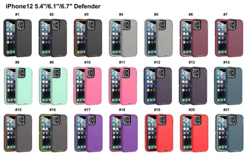 OEM iPhone 12 Otterbox Defender with Logo Anti-drop Phone Protective Case for iPhone 12 Mini 12pro/max