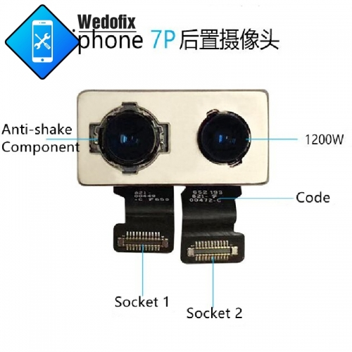 Replacement Rear Camera with Factory Code for iPhone 7 7P