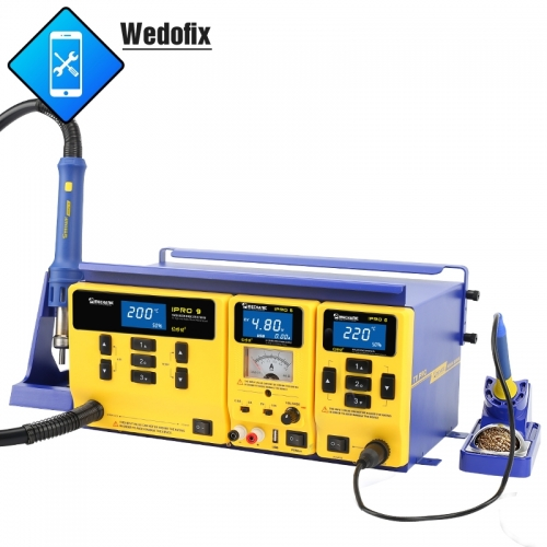 Mechanic 3 in 1 Hot Air Rework Station Solder Iron Station DC Power Supply for Microsolder Repair