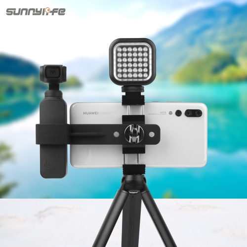 Sunnylife Metal Smartphone Clamp Mount Holder Tripod Extension Rod for DJI OSMO POCKET