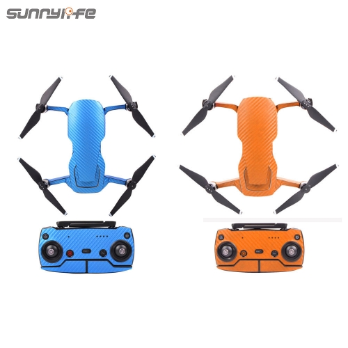 Sunnylife Waterproof PVC Carbon Grain Graphic Stickers Full Set Skin Decals for DJI MAVIC AIR