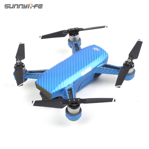Sunnylife PVC Carbon Fiber Graphic Decals Camouflage Stickers Waterproof Skin for DJI SPARK