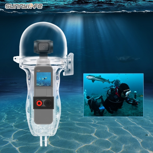 Sunnylife Sport Camera 60 Meters Waterproof Case Diving Shell Housing for OSMO POCKET