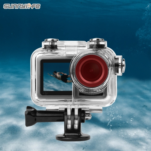 Sunnylife Sport Camera 60 Meters Waterproof Case Diving Shell Housing for OSMO ACTION Underwater Case