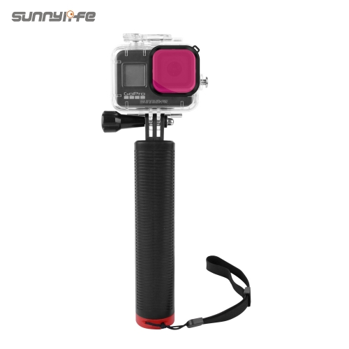 Sunnylife 60m Waterproof Protective Case Underwater Housing Case Diving Filter Floating Bar for GoPro Hero 8 Black Sports Camera