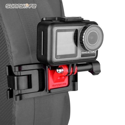Sunnylife Universal Sports Camera Backpack Clamp Adjustable Clips for GoPro 8 Osmo Action Osmo Pocket