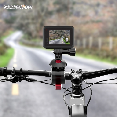 Sunnylife Sports Camera Universal Bicycle Clamp Adjustable Clips for GoPro 8 Osmo Action Osmo Pocket