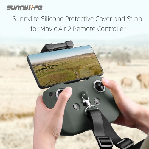 Sunnylife Silicone Protective Cover with Strap Remote Controller Protective Sleeve for Mavic Air 2