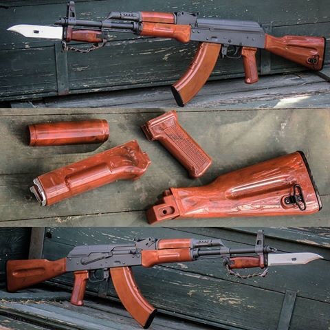 BakeLite (wood like, polymer durability) Stock Set For AK47
