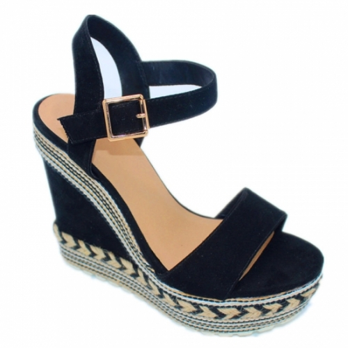 Manufacturing Women shoes Colorful Rope Wraping wedge shoe lady platform sandals Wholesaler