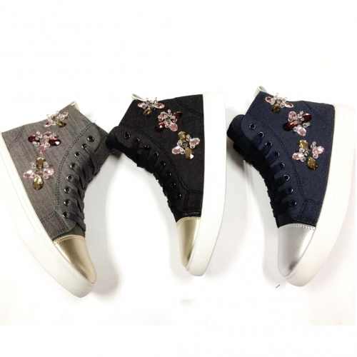 Ankle Cavan Booties Vulnazied footwear Colorful Crystal beads Cavan shoes Women's Casual Ankle Boots