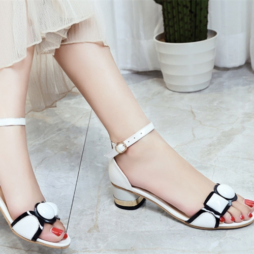 Shoe sandal Manufacturer Wholesale Womens Transparent Colorful Straps Chunky Heels slippers