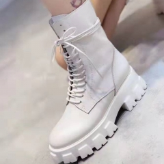 Wholesale injection Boots Motorcycle white booties Women's Riding Calf boots
