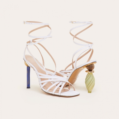Shoe store online Women's Alien crystal ball building block heel sandals