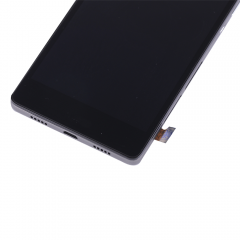For Huawei Ascend P8 Lite LCD Screen and Digitizer Assembly with Frame Replacement - Black - Ori