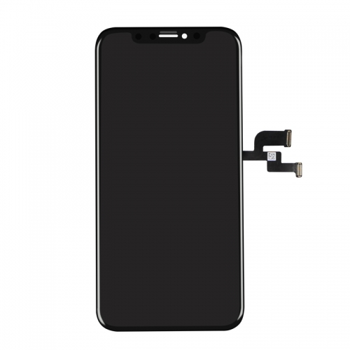 For Apple iPhone X LCD Display and Touch Screen Digitizer Assembly with Frame Replacement - Black - OLED Soft