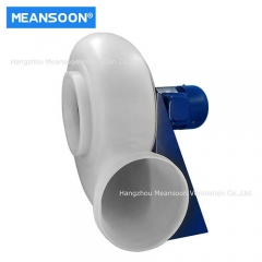 Plastic fume cupboard exhaust fan