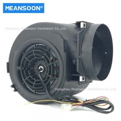 Plastic centrifugal fan for kitchen smoke exhaust
