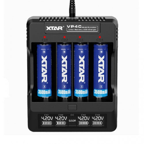 XTAR VP4C LCD Li-ion Battery Charger