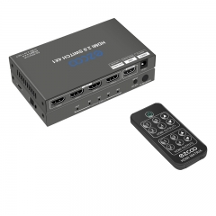 4k60 HDMI Switch 4 IN 1 OUT, Dolby Vision ,Scaling out, Optical Audio Breakout,CEC