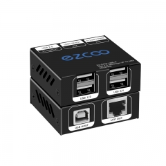 USB2.0 Extender over cat 5/6 up to 165ft(50m),Expand to 4 USB ports, plug and play, no driver