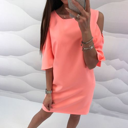 Fashion Cold Shoulder Dresses Casual Mini Summer Dress