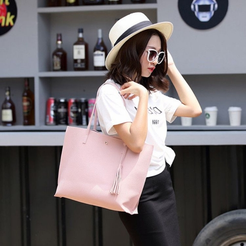 Women Leather Handbag Shoulder Tote Bag
