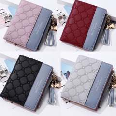 New Wallet Women Coin Bag Leather Ladies Simple Bifold Small Handbag Purse