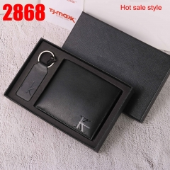 2868 man wallet genuine leather