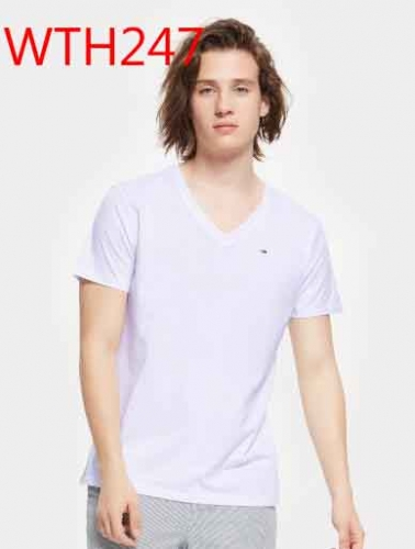 WTH247   man cotton t shirt V neck