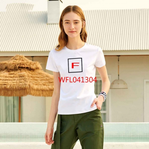 WFL041304 woman t shirt fashion 95% cotton