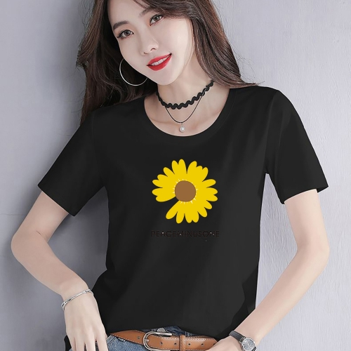 PDT0041  woman t shirt fashion 95% cotton