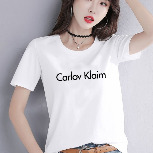 CK003  woman t shirt fashion 95% cotton