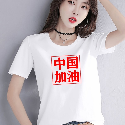 CK006  woman t shirt fashion 95% cotton