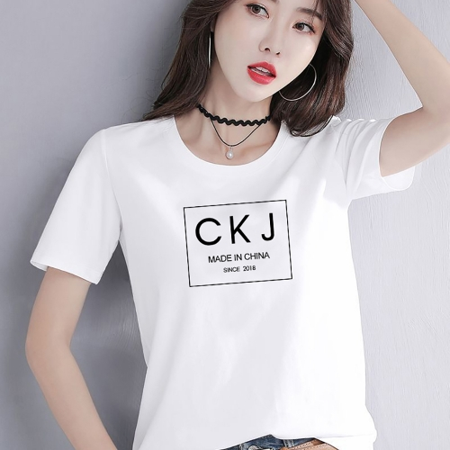 CK005    woman t shirt fashion 95% cotton