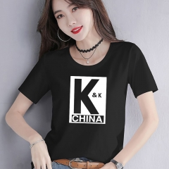 PDT0019  woman t shirt fashion 95% cotton