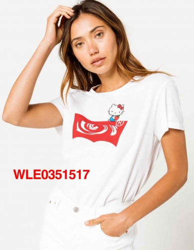 WLE0351517   woman t shirt fashion o neck short sleeve shirts 95% cotton