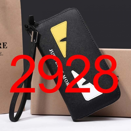 2928    long style high quality wallet genuine leather