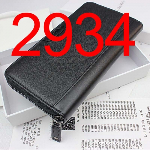 2934  long style high quality wallet genuine leather