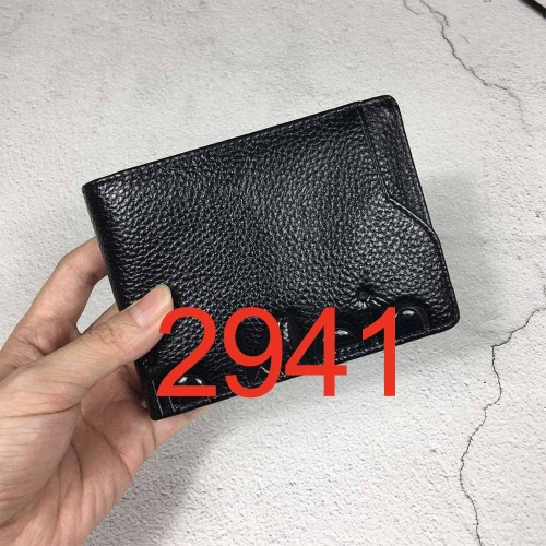 2941   high quality man wallet genuine leather