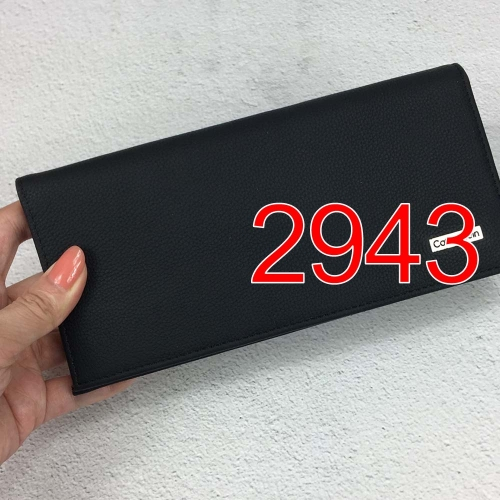 2943   long style high quality wallet genuine leather